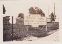The large marker at Chestnut Ridge.