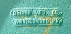 Geiser Manufacturing Co. Mark