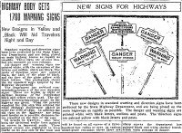 This 1922 Philadelphia Inquirer article describes the beginning of Pennsylvania's program to install traffic markers across the state.