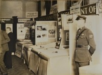 "This photograph appears to show a Pennsylvania Department of Highways display at a conference or convention. Many official state highway signs were on display, from ""Stop"" signs to Keystone Markers. (Pennsylvania Department of Highways Collection, Pennsylvania State Archives: RG-12 OL 5-0603 box 4, #2114)"