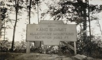 Large Keystone Marker for Kane Summit in the Allegheny Mountains along the Buffalo-Pittsburgh Highway. (Pennsylvania Department of Highways Collection, Pennsylvania State Archives: RG-12 OL 5-0581 box 33, #2116)