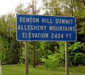 Existing sign at summit
