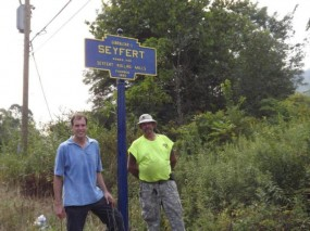 New marker installed September 10, 2013