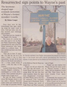 January 10, 2002, article in the Suburban and Wayne Times