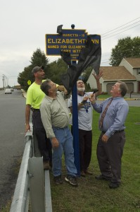 October 2012 photo of unveiling by Greg Prichard