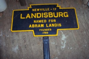 August 2011 by Jack Graham shows marker and post as found stored in a borough shed where it had been for many years.