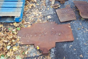 2012 photo by J. Graham shows marker as found in PennDot storage yard