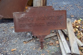 Nov. 2012 photo by J. Graham shows rusted but intact marker
